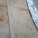 Ronding uitslijpen natuursteen vloer